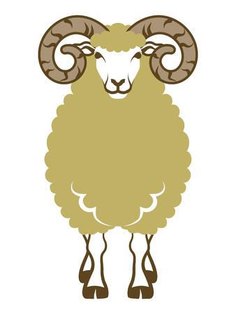 羊フロント ビュー クリップ アート  イラスト・ベクター素材