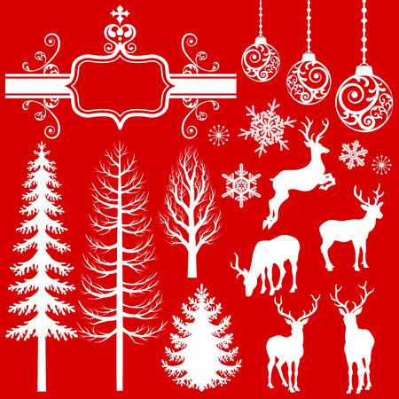 クリスマスの装飾のシルエット