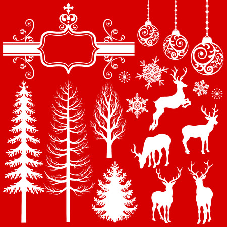 Christmas  Decoration silhouettes