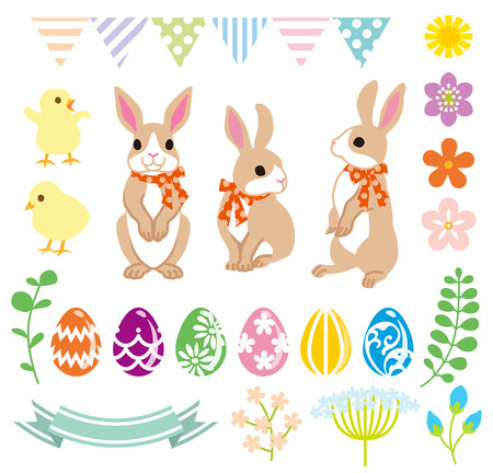 easter eggs: Easter Bunny and Decoration set