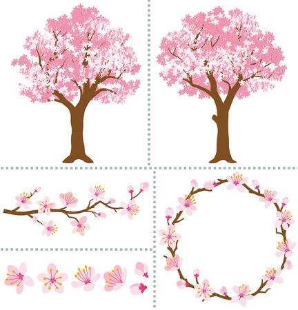 Cherry Blossoms for Design Elements Vettoriali