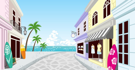 Summer Resort Shopping Street