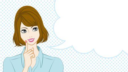 bubble speech: Bobbed Hair women talking, speech bubble