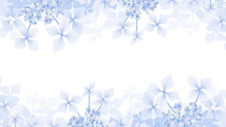 アジサイ フレーム  イラスト・ベクター素材