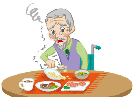paralysis: Senior men meals trouble