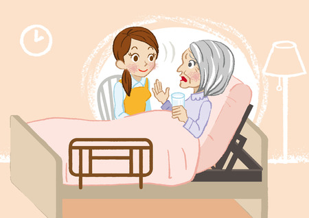Senior care listening closely
