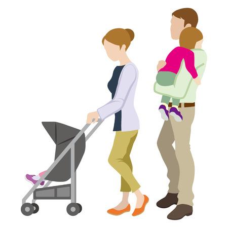 Baby Stroller Family