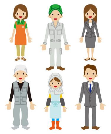 mujer trabajadora: Juego de caracteres trabajador