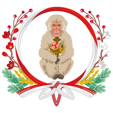 grasp: Year of the Monkey Clip Art-Holding Gavel Illustration