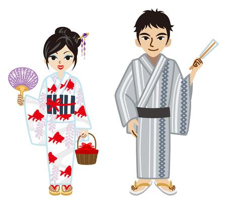 yukata: Yukata couple