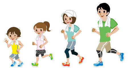 physical activity: Running Family, Short sleeve