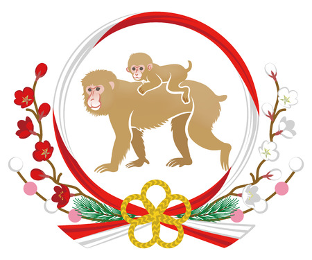 piggyback ride: Year Of The Monkey ornament, Mom and Child Piggyback ride
