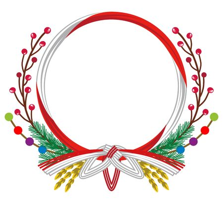 creative arts: Japanese Traditional Wreath decoration Red and White