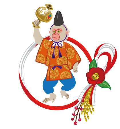 anthropomorphic: Year Of The Monkey ornament, anthropomorphic Monkey Illustration