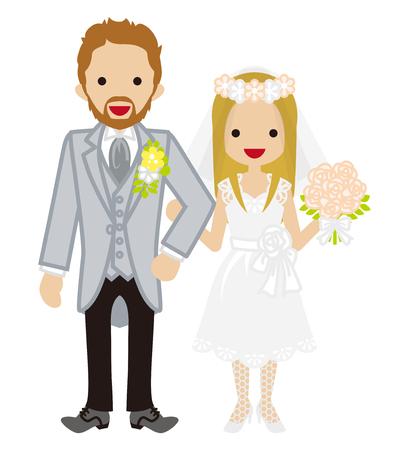 heterosexual: Wedding-Heterosexual Couple-garland