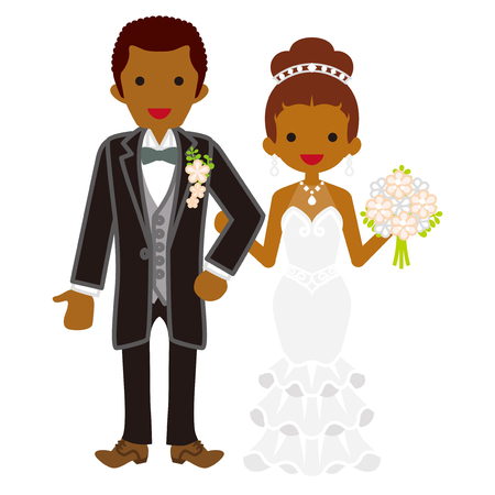 heterosexual couple: Wedding African couple