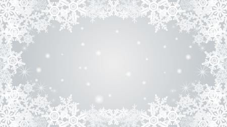 natural phenomenon: Snowflake frame-silver