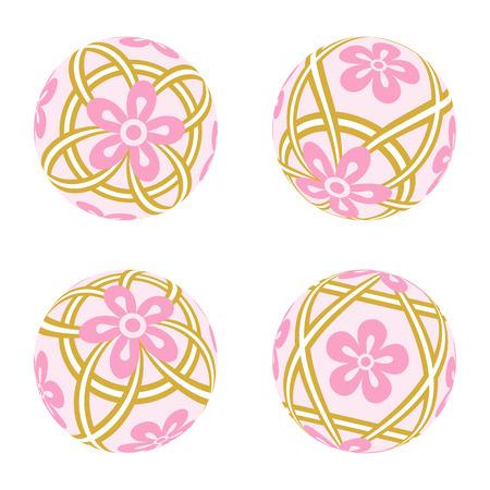 flor de durazno: Pink pelota de juguete pasado de moda japonesa