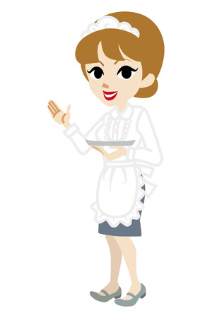 explaining: Explaining Waitress Illustration