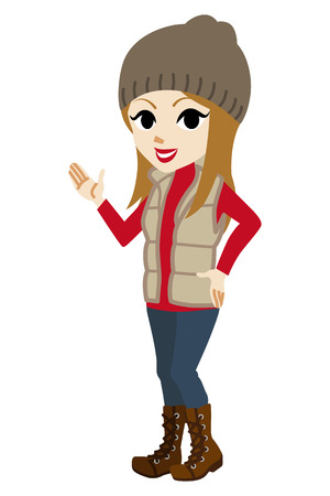 toothy smile: Explaining Casual winter fashioned girl