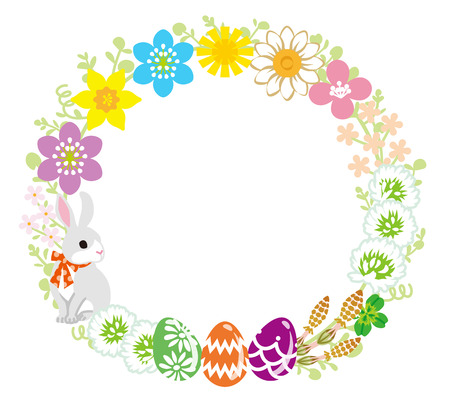 animals frame: Easter Wreath
