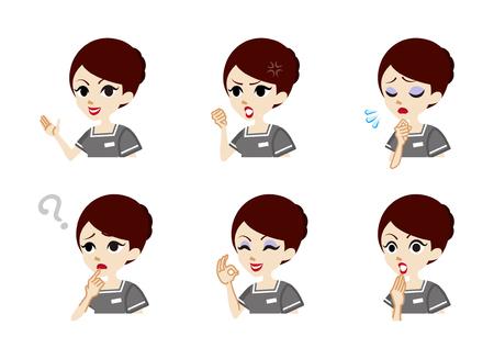 facial   expression: Therapist Facial expression set