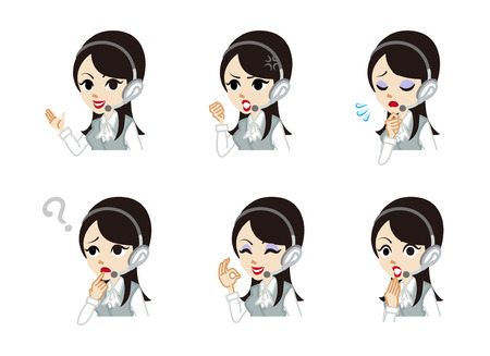 handsfree: Operator Facial expression set