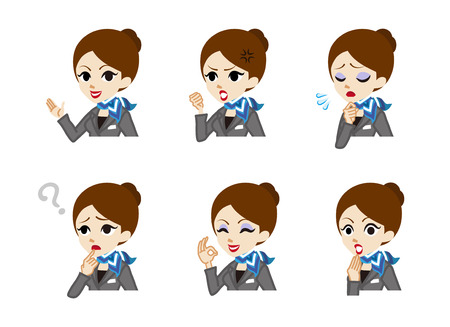 facial expression: Concierge Facial expression set Illustration