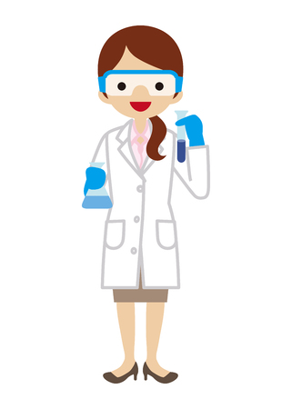 protective eyewear: Female Scientist