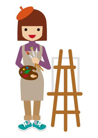 pintor: Pintor de sexo femenino