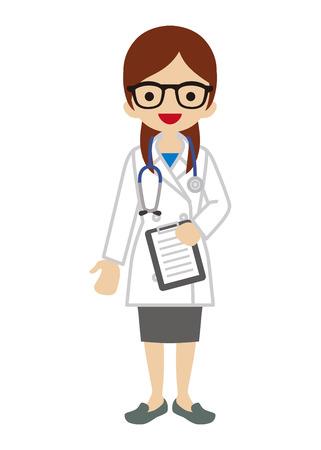 Vrouwelijke arts Vector Illustratie