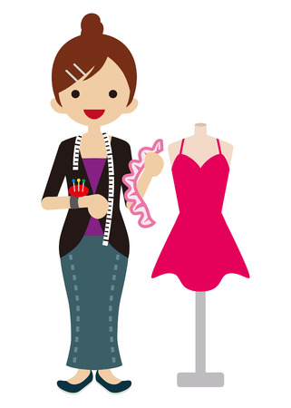small business woman: Female Fashion Designer