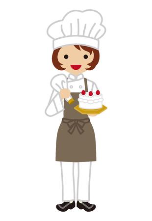 confectioner: Female Confectioner Illustration