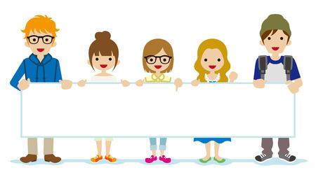 Las personas que presenten Grupo de Estudiantes - Ilustración de vector