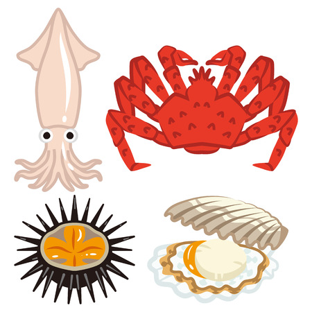 cuttlefish: Four marine products set