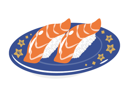 sushi  plate: Salmon Sushi plate
