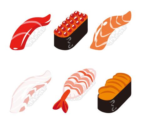 six objects: Sushi Six Objects set