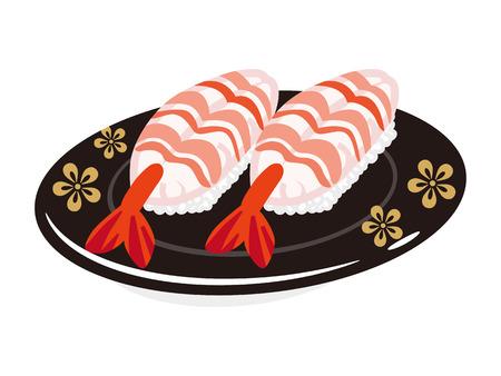 plate: Shrimp Sushi plate