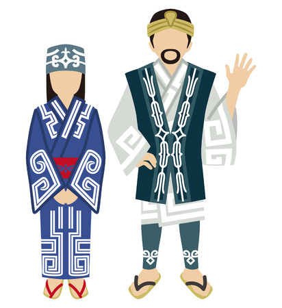 unrecognizable: Ainu Couple Illustration