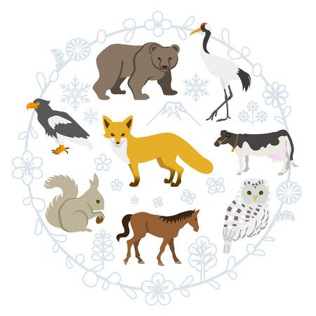 Northern Animals set Illustration