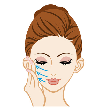 Touching a Cheek-Facial Skin Care