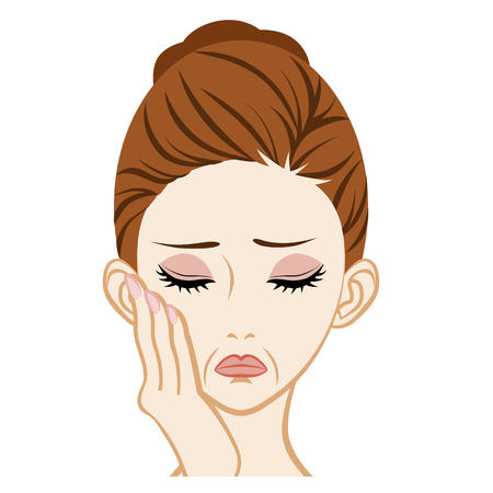 skin problem: Wrinkled-Facial Skin Trouble