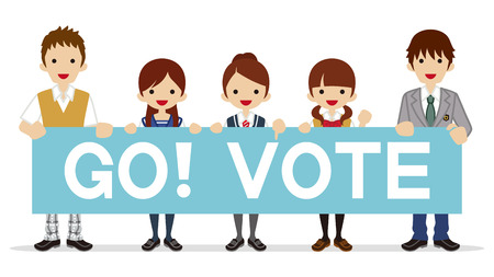 voting: Students appeal Voting - Placard Illustration