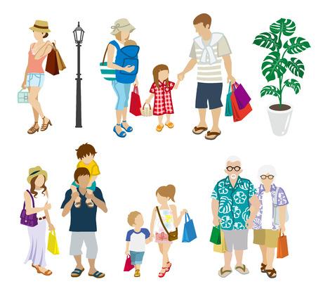 multitud gente: la gente del verano Compras generación configuración multi Vectores