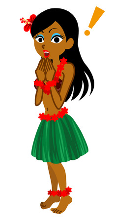 Surprising Female Hula dancer-Full Length