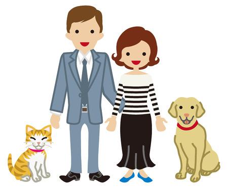 Pareja y Mascotas - Perros y Gatos