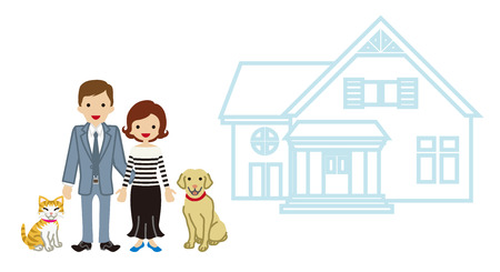 home ownership: House and Family - Couple and pets