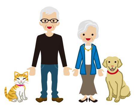 senior couple: Senior couple - Pets