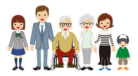 Multi-Generation Family -Wheelchair grandpa