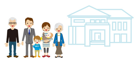 active seniors: Multi-Generation Family with House - Active Seniors